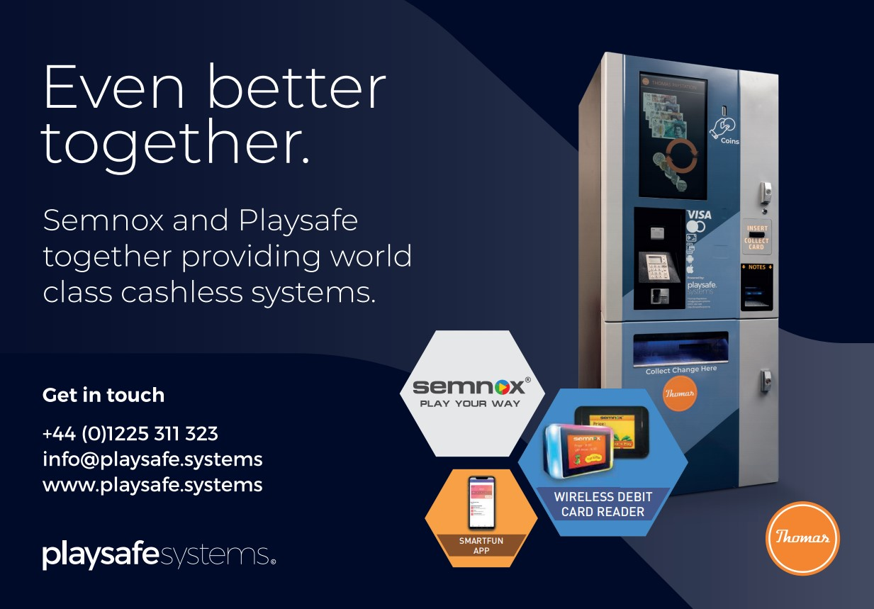 Semnox & Playsafe providing world class cashless systems
